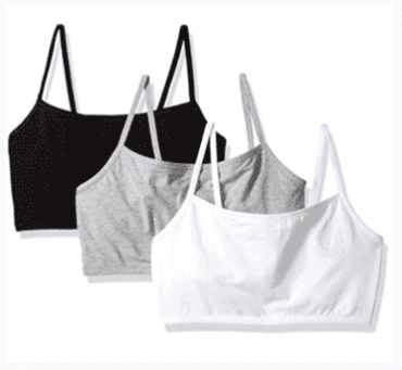 FRUIT OF THE LOOM PULLOVER COTTON SPORTS BRA