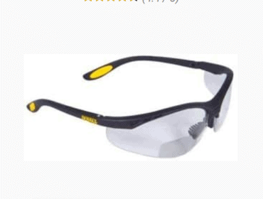DEWALT REINFORCER RX BIFOCAL SAFETY GLASSES