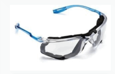 3M VIRTUA CCS PROTECTIVE EYEWEAR WITH FOAM GASKET AND ANTI-FOG LENS