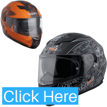 LS2 Stream Omega Full Face Motorcycle Helmet (with Sunshield)