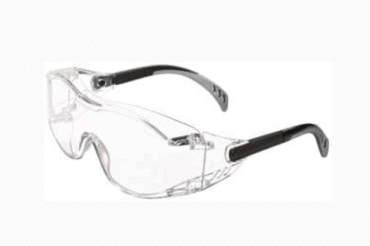 GATEWAY SAFETY COVER2 SAFETY GLASSES (CLEAR LENS & BLACK TEMPLE)